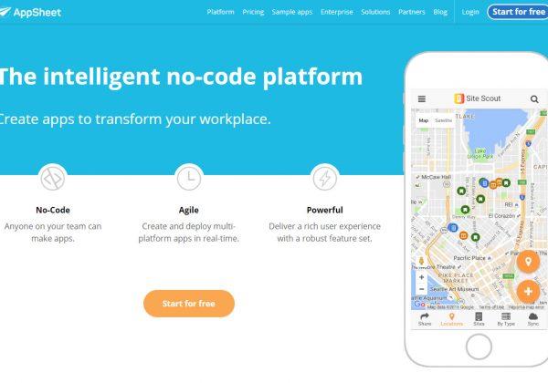 AppSheet ti permette di creare la tua applicazione mobile con l'uso di un foglio di calco di google, per esempio.