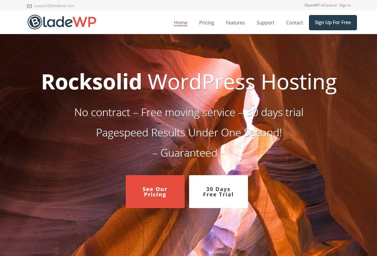 BladeWP è una compagnia hosting specifica per Wordpress.