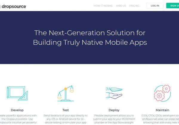 Dropusoruce è un'altra piattaforma dove poter svillupare la propria app gratuitamente, per poi pagare una tassa annuale sulla licenza per l'uso della piattaforma.