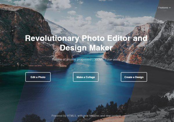 Fotor è un altro editor online dove è possibile modificare e creare le proprie immagini.