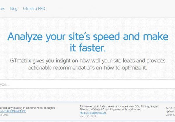 Migliora le prestazioni del tuo sito internet con GTmetrix.