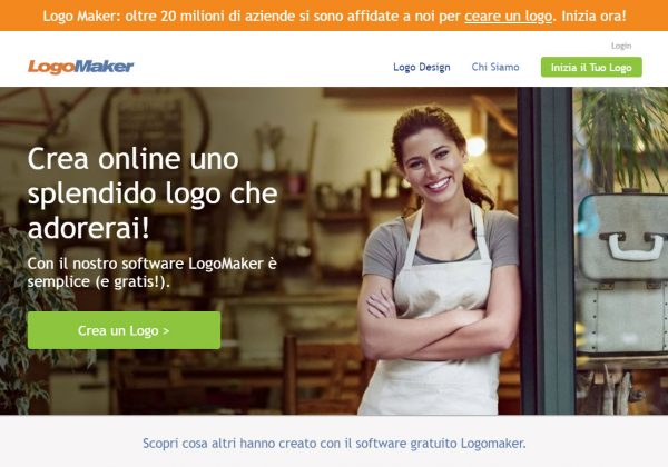 Logo Maker è un sito internet in Italiano che ti permette di creare il tuo logo gratuitamente online.