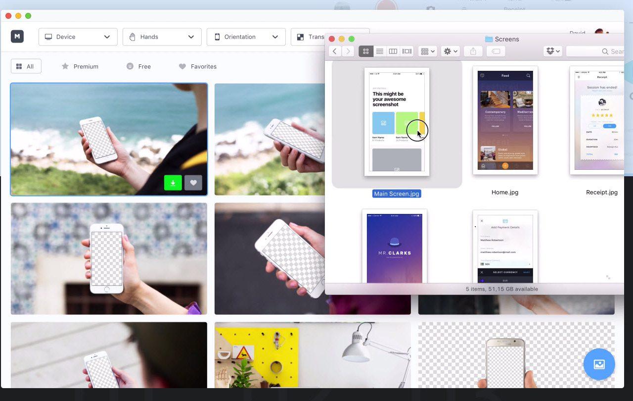 Mockuuups ti permette di creare mockup per le tue campagne pubblicitarie, per il tuo blog e molto altro ancora. È un servizio gratuito ed è disponibile per Mac e Windows.