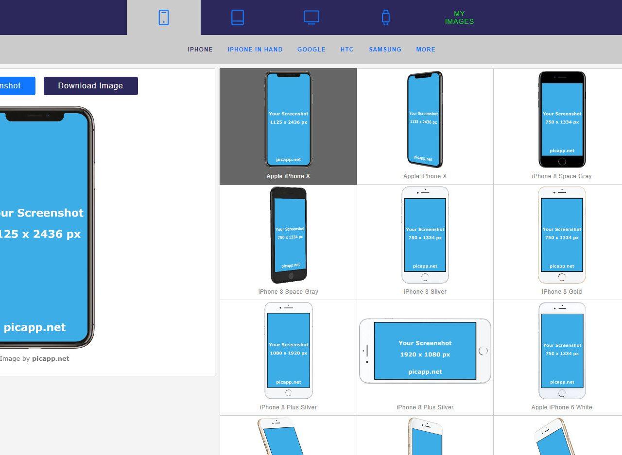 Con Picapp puoi creare i tuoi modelli per qualsiasi tipo di dispositivo mobile, incluso i computer portatili.