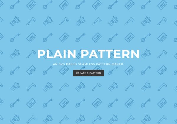Hai bisogno di creare immagini di sfondo per il tuo sito internet? Usa l'applicazione Plain Pattern.