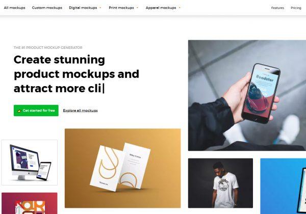Smartmockups mette a disposizione diversi immagini per creare il tuo modello gratuitamente.