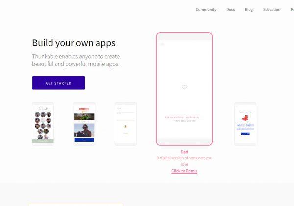 Thunkable è un generatore di app native per chiunque desideri creare app, dal non sviluppatore allo sviluppatore qualificato che vuole fare qualcosa di più semplice e veloce.