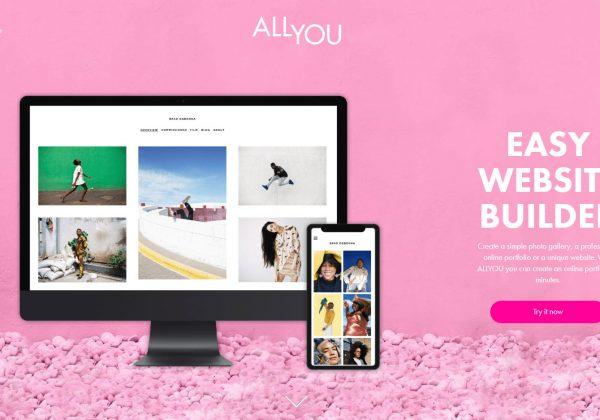Con AllYou puoi creare il tuo portfolio online. Questo servizio è fatto per le persone che amano la creativitá e il buon design.