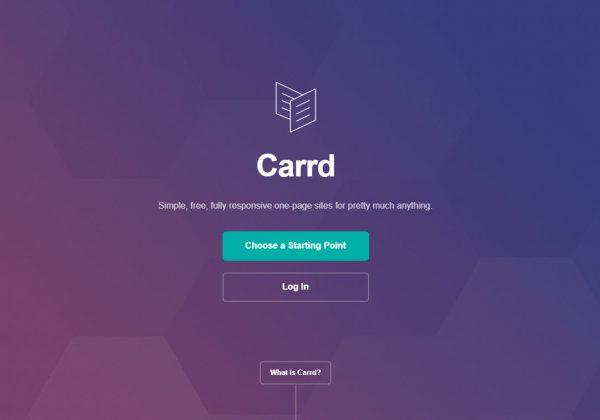 Carrd ti permette di creare la tua pagina web senza difficoltà e conoscenze tecnice