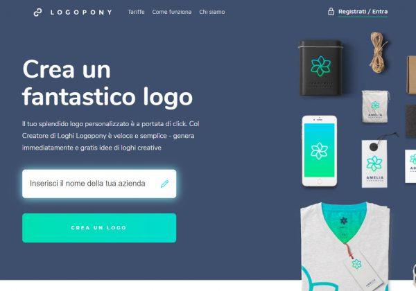 Crea e personalizza il tuo logo a portata di clic, con Logopony.