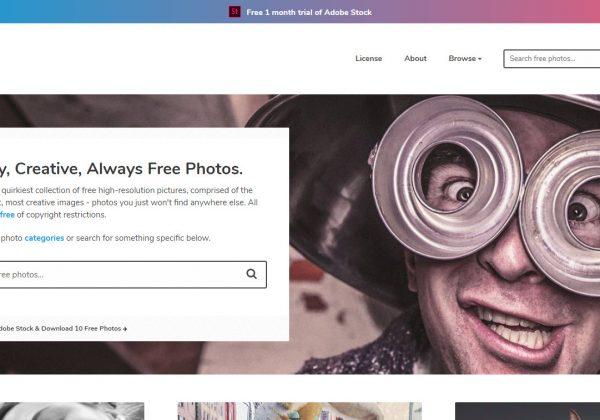 Sul sito di Gratisography trovi alcune delle foto più alternative, bizzarre e strane che ci sono in giro sul web ed è possibile scaricarle tutte gratuitamente.