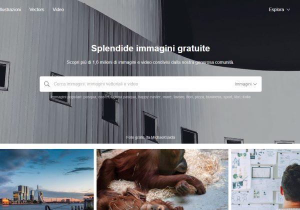 Pixabay, disponibile anche in italiano, non solo offre immagini royalty gratis, ma fornisce anche una varietà di video di alta definizione da utilizzare all'interno del tuo sito web.