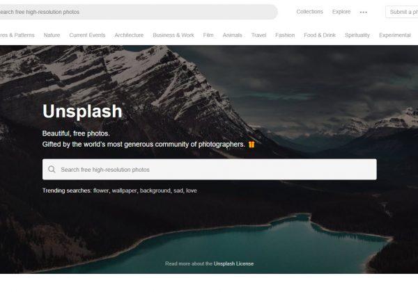Unsplash è un sito che contiene una vasta raccolta di foto ad alta risoluzione gratuite.