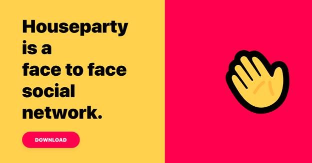Houseparty una app che inizia ad essere di moda ed è una delle migliori app del 2020 più ricercate.
