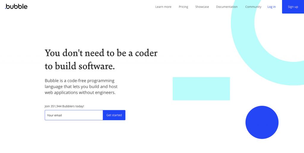 Programmare senza codice con Bubble.