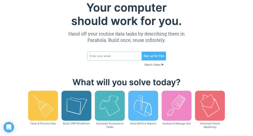Parabola automatizza l'integrazione di dati tra diverse app.