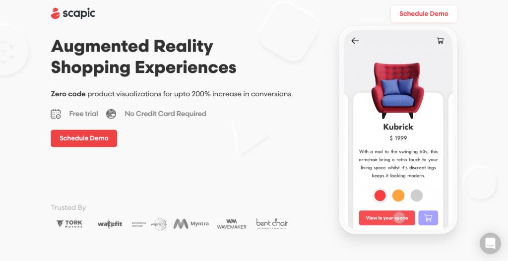 Scapic permette di utilizzare la realtà aumentata per gli e-commerce.