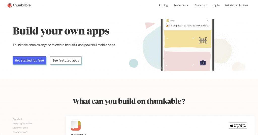 Thunkable permette di creare app senza il bisogno di saper programmare.