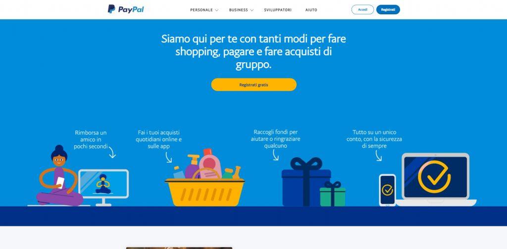 Paypal, è un servizio che permette di ricevere pagamenti online.